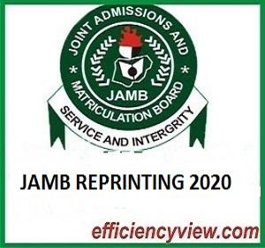 Photo of When will UTME Candidates start reprinting of 2020 JAMB UTME Examination Slip?