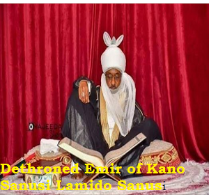 Photo of Acceptance speech by Dethroned Emir of Kano Sanusi Lamido Sanusi