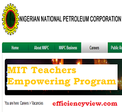 Photo of NNPC/Total MIT Teachers Empowering Program 2020/2021 apply here