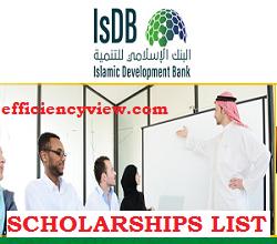 Photo of Islamic Development Bank (IsDB) Scholarships Shortlisted Candidates 2020/2021