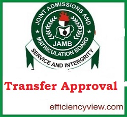 JAMB CAPS Admission Transfer Approval