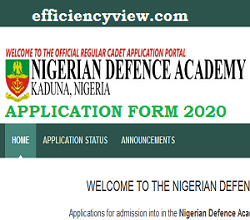 Photo of NDA Application Form 2020/2021: see NDA Form Registration date/ how to apply online