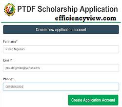 PTDF Scholarship Applicant Login/Registration Portal