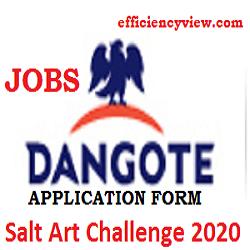 Photo of Dangote Salt Art Challenge 2020: Get Creative and win up 100000 apply here