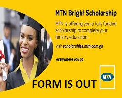 Photo of MTN Bright Scholarship Program 2020 for Young Undergraduate Students in Ghanaian apply here