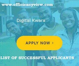 Kwara State (KWASSIP) Digital Skills Training Successful Shortlisted Candidates 2020-2021