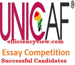 Photo of Unicaf Nigeria Essay Competition Beneficiaries List of Shortlisted Candidates 2020/2021 check here